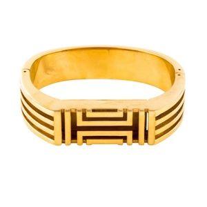 EUC TORY BURCH Fitbit hinged bracelet gold